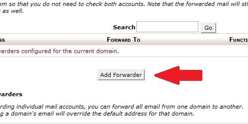 Click the Add Forwarder button.